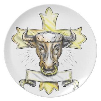 Assiettes En Mélamine Croix chrétienne principale de Bullock