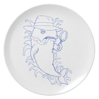 Assiettes En Mélamine Dessin révélateur d'épaulard d'orque