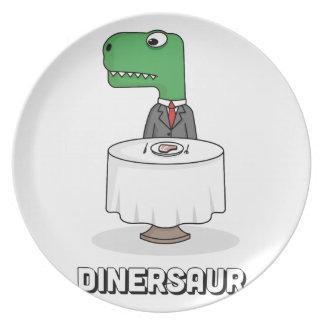 Assiettes En Mélamine Dinersaur