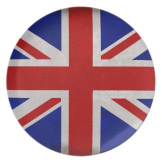 Assiettes En Mélamine Drapeau Anglais d'Angleterre texturé