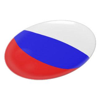 Assiettes En Mélamine Drapeau de Russe de la Russie