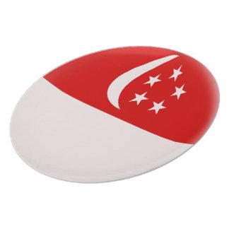 Assiettes En Mélamine Drapeau de Singapourien de Singapour Singapura