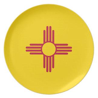 Assiettes En Mélamine Drapeau du Nouveau Mexique