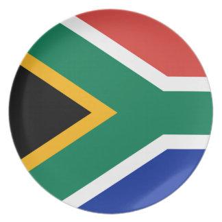Assiettes En Mélamine Drapeau national sud-africain