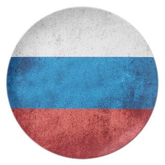 Assiettes En Mélamine Drapeau russe