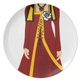 Assiettes En Mélamine Elizabeth de York