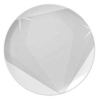 Assiettes En Mélamine Étincelle de diamant