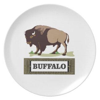 Assiettes En Mélamine étiquette brune de buffle
