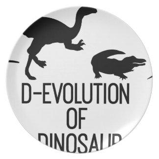 Assiettes En Mélamine Évolution de D d'organisme de dinosaure