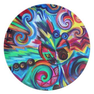 Assiettes En Mélamine Explosion de couleur