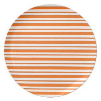 Assiettes En Mélamine Filet horizontal orange