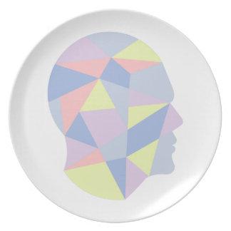 Assiettes En Mélamine Formes géométriques à l'intérieur de conception
