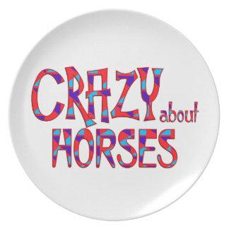 Assiettes En Mélamine Fou au sujet des chevaux