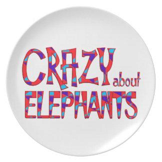 Assiettes En Mélamine Fou au sujet des éléphants