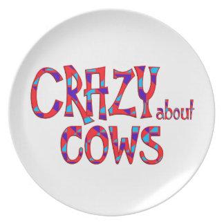 Assiettes En Mélamine Fou au sujet des vaches