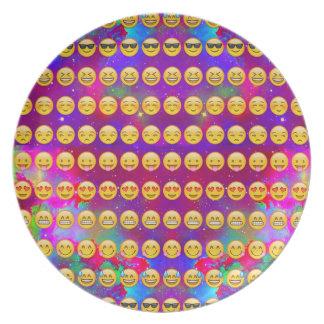Assiettes En Mélamine Galaxie Emojis