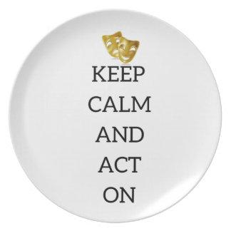 Assiettes En Mélamine Gardez le calme et agissez sur la vitesse