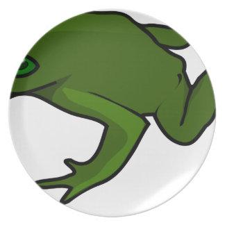 Assiettes En Mélamine Grenouille vert-foncé