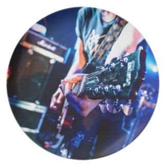 Assiettes En Mélamine Guitare de rock