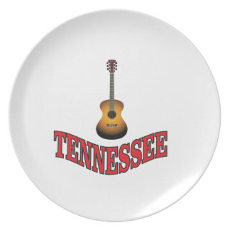 Assiettes En Mélamine Guitare du Tennessee