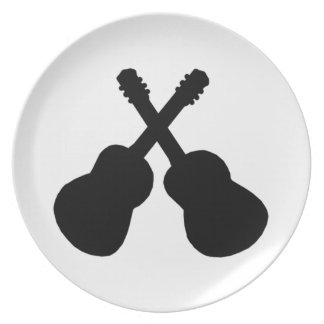 Assiettes En Mélamine guitares noires