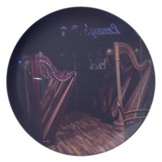 Assiettes En Mélamine Harpes dans l'ombre