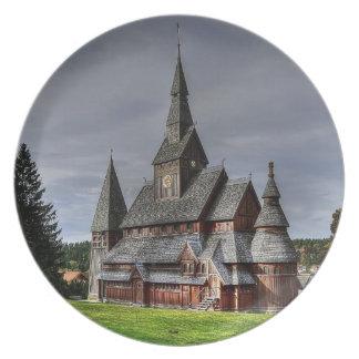 Assiettes En Mélamine Harzer église comme Melaminteller