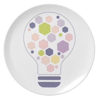 Assiettes En Mélamine Hexahedrons à l'intérieur de pâte de conception