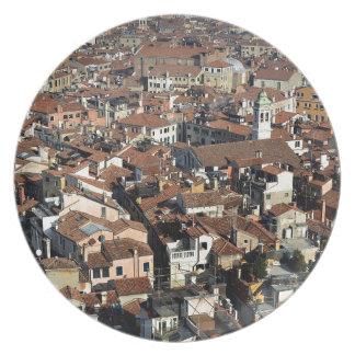 Assiettes En Mélamine Horizon de ville de Venise
