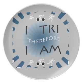 Assiettes En Mélamine I tri par conséquent je suis triathlon