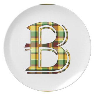 Assiettes En Mélamine Initiale de plaid de B