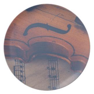 Assiettes En Mélamine Instrument de musique de classique d'instrument de