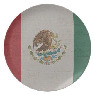 Assiettes En Mélamine International de drapeau du Mexique