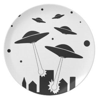 Assiettes En Mélamine Invasion d'UFO