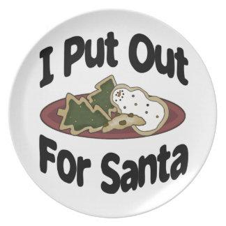 Assiettes En Mélamine J'ai éteint pour Père Noël