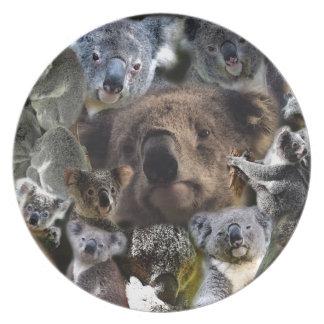 Assiettes En Mélamine Koala heureux