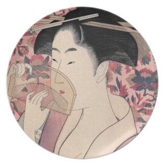 Assiettes En Mélamine La beauté orientale, Kushi par Kitagawa Utamaro