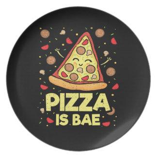 Assiettes En Mélamine La pizza est Bae - bande dessinée drôle -
