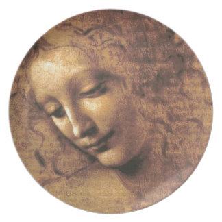 Assiettes En Mélamine La Scapigliata par Leonardo da Vinci