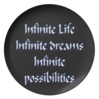Assiettes En Mélamine La vie infinie, rêves infinis, infinis…