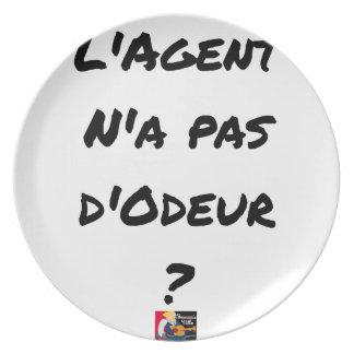 Assiettes En Mélamine L'AGENT N'A PAS D'ODEUR ? - Jeux de mots