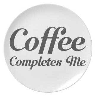 Assiettes En Mélamine Le café m'accomplit