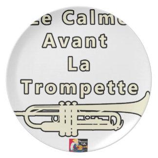 Assiettes En Mélamine Le Calme avant la Trompette - Jeux de Mots
