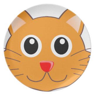 Assiettes En Mélamine Le chat orange au nez rouge
