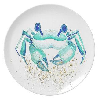 Assiettes En Mélamine Le crabe de Neptune