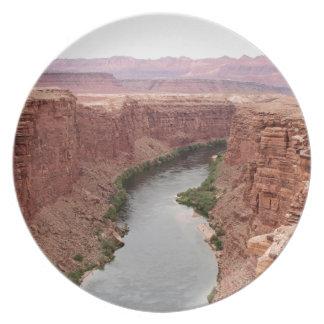 Assiettes En Mélamine Le fleuve Colorado près du pont de Navajo,