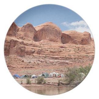 Assiettes En Mélamine Le fleuve Colorado, Utah, Etats-Unis