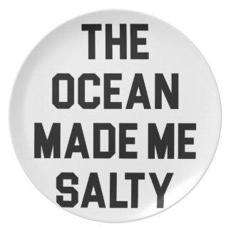 Assiettes En Mélamine L'océan m'a rendu salé