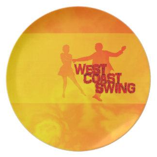 Assiettes En Mélamine L'ouest Coast swing