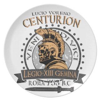 Assiettes En Mélamine Lucius Voreno, un centurion romain célèbre